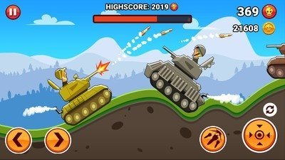 前线山丘坦克战